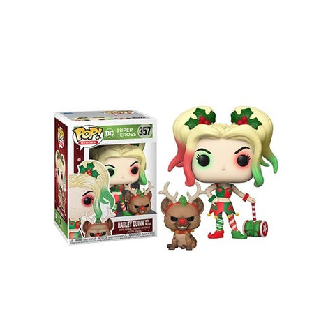 Funko Pop! Heroes - DC Holiday #357- Harley Quinn (w/Helper)