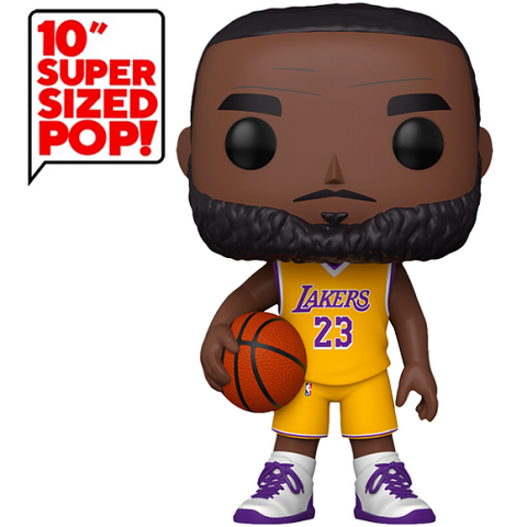 Funko Pop! Sports: NBA #97 – Lakers – LeBron James (Yellow Jersey) (10 Inch) (Exclusive)
