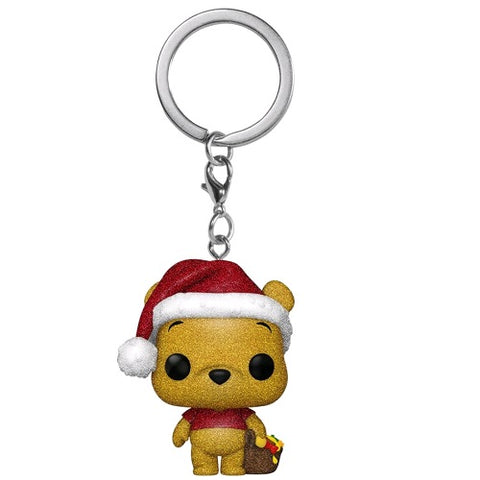 Pocket Pop! Keychain - Winnie the Pooh - Holiday - Pooh (Diamond Glitter) (Exclusive)