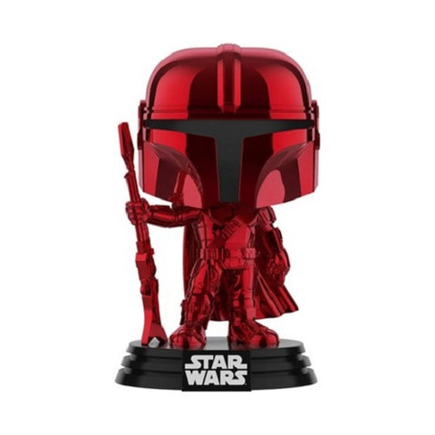 Funko Pop! Movies – Star Wars #345 – The Mandalorian (Red Chrome) (Exclusive)