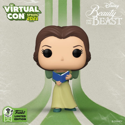 [Pre-Order] Funko POP! Disney – Beauty & The Beast – Belle in Green Dress With Book (Spring Convention 2021 Exclusive)