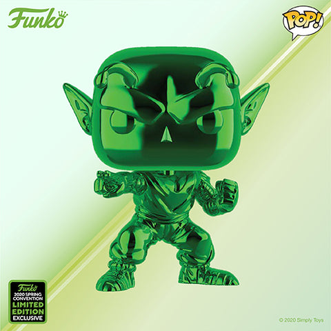 Funko Pop! Animation - Dragonball Z #760 - Piccolo (Green Chrome) (ECCC 2020 Convention Exclusive) - Simply Toys