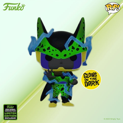 Funko Pop! Animation - Dragonball Z #759 - Perfect Cell (Glow in the Dark) (ECCC 2020 Convention Exclusive) - Simply Toys