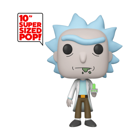 Funko Pop! Animation - Rick and Morty #665 – Rick with Portal Gun (10 inch) (Exclusive) - Simply Toys