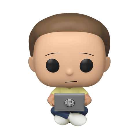 Funko Pop! Animation - Rick and Morty #742 – Morty (with Laptop) (Exclusive) - Simply Toys