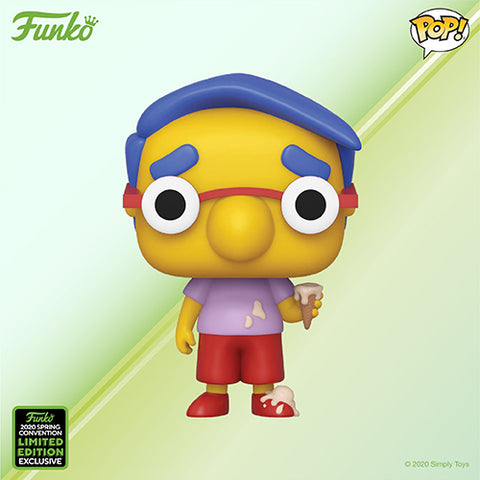 Funko Pop! Animation - The Simpsons #765 - Milhouse (ECCC 2020 Convention Exclusive) - Simply Toys