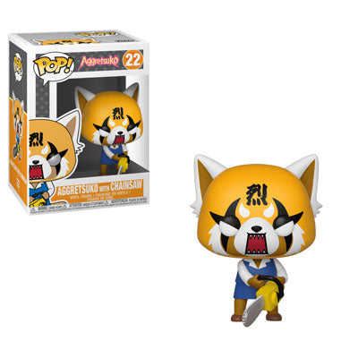 Funko Pop! Animation – Aggretsuko #22 – Aggretsuko (with Chainsaw) - Simply Toys