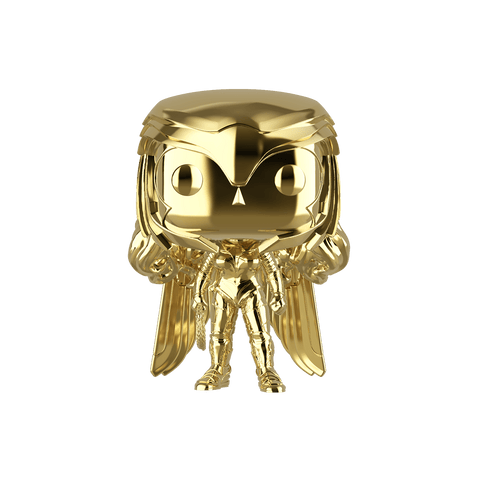 Funko Pop! DC - Wonder Woman 1984 #323 - Wonder Woman Golden Armor (Gold Chrome) (Exclusive) - Simply Toys