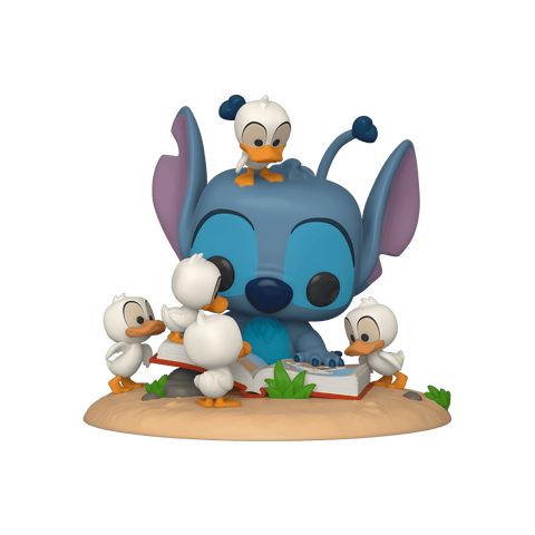 Funko Pop! Disney - Lilo & Stitch #639 - Stitch (with Ducks) (6 inch) (Exclusive) - Simply Toys
