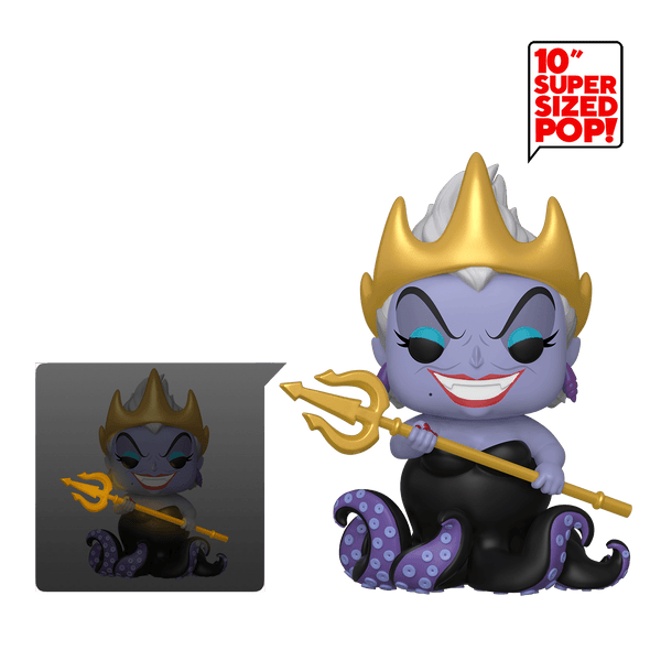Funko Pop! Disney - The Little Mermaid #569 - Ursula (with Crown & Trident) (10 inch) (Glow in the Dark) - Simply Toys