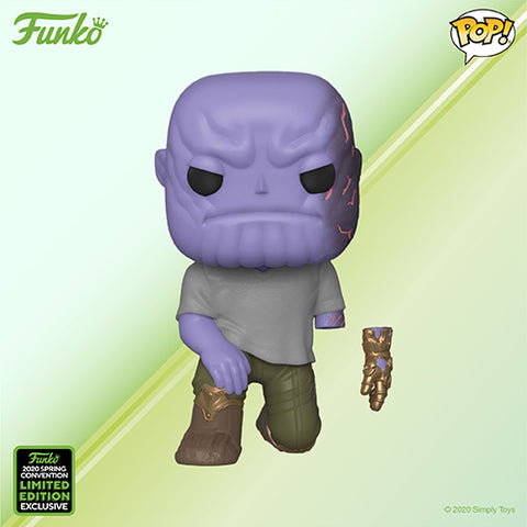 Funko Pop! MARVEL - Avengers: Endgame #592 - Thanos (with Detachable Hand) (ECCC 2020 Convention Exclusive) - Simply Toys