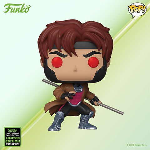 Funko Pop! MARVEL - X-Men #554 - Gambit (ECCC 2020 Convention Exclusive) - Simply Toys
