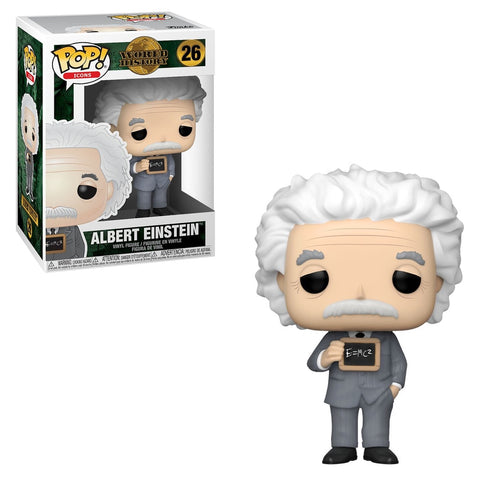 Funko Pop! Icons - World History #26 - Albert Einstein - Simply Toys