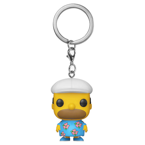 Funko Pop! Keychain - The Simpsons - Homer Muumuu (Exclusive) - Simply Toys