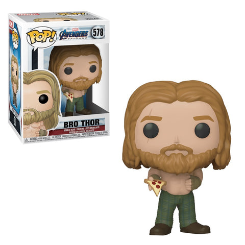 Funko Pop! MARVEL - Avengers: Endgame #578 - Bro Thor (with Pizza) - Simply Toys
