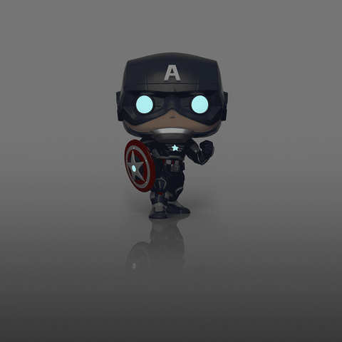 Funko Pop! MARVEL - Avengers Gamerverse #627 - Captain America (Glow in the Dark) (Exclusive) - Simply Toys