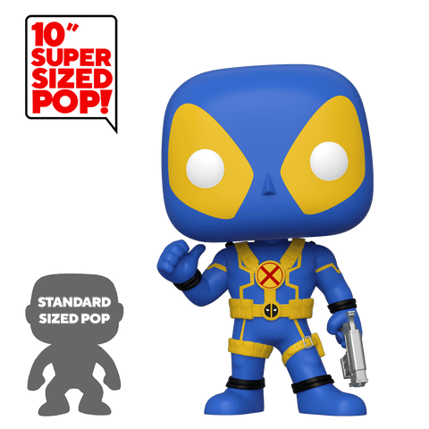 Funko Pop! MARVEL - Deadpool #548 - Deadpool (Blue/Yellow) (10 inch) (Exclusive) - Simply Toys
