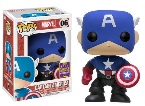 Funko Pop! MARVEL - MARVEL #06 - Captain America (Summer Convention 2017 Exclusive) - Simply Toys