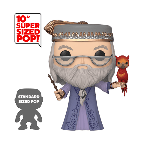 Funko Pop! Movies - Harry Potter #110 - Albus Dumbledore (with Fawkes) (10 inch) - Simply Toys