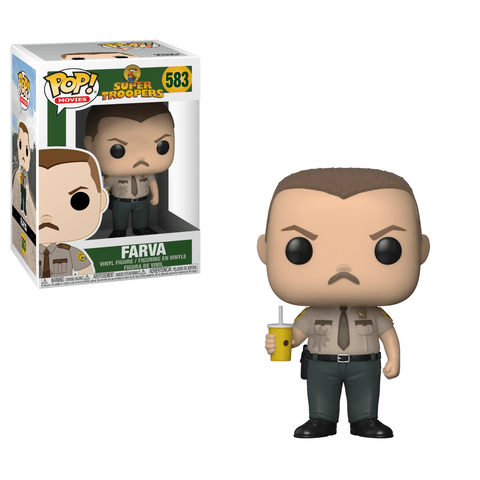 "Funko Pop! Movies - Super Troopers #583 - Trooper Rodney ""Rod"" Farva - Simply Toys"