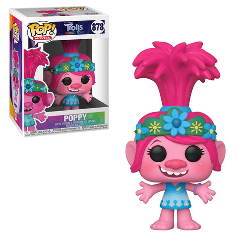 Funko Pop! Movies - Trolls World Tour #878 - Queen Poppy - Simply Toys