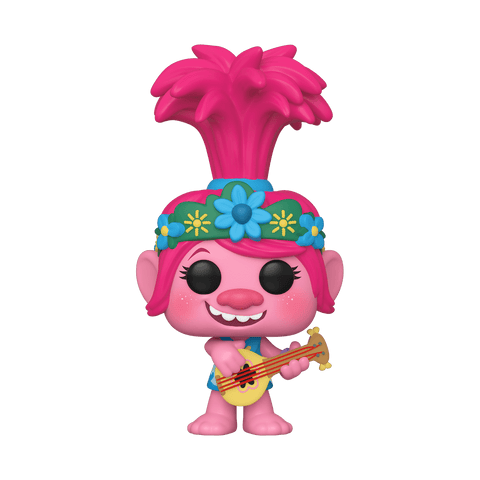 Funko Pop! Movies - Trolls World Tour #883 - Queen Poppy (with Guitar) (Exclusive) - Simply Toys