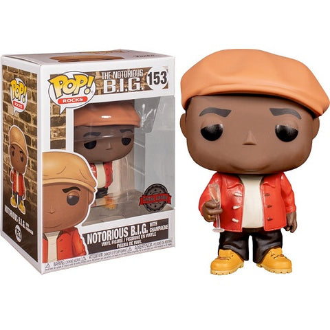 Funko Pop! Rocks - The Notorious B.I.G. #153 - Notorious B.I.G. (with Champagne) (Exclusive) - Simply Toys