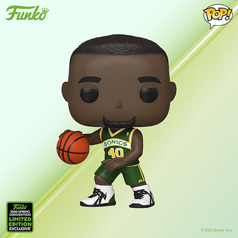 Funko Pop! Sports - NBA: Seattle Supersonics #72 - Shawn Kemp (ECCC 2020 Convention Exclusive) - Simply Toys