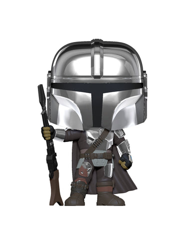 Funko Pop! Star Wars - The Mandalorian #345 - The Mandalorian (Chrome Beskar Armor) (Exclusive) - Simply Toys
