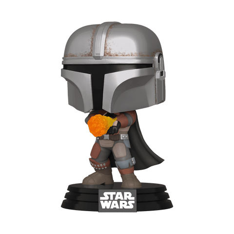 Funko Pop! Star Wars - The Mandalorian #355 - The Mandalorian (Flame Throwing) (Exclusive) - Simply Toys