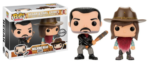 Funko Pop! Television - The Walking Dead - Negan & Carl Grimes (2 pack) (Exclusive) - Simply Toys
