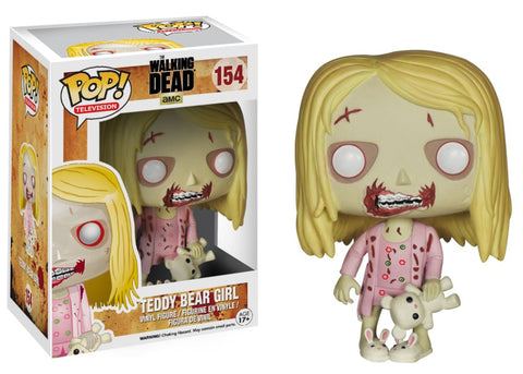 Funko Pop! Television - The Walking Dead #154 - Girl Walker (with Teddy Bear) *VAULTED* - Simply Toys