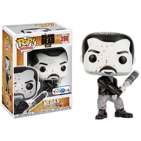 Funko Pop! Television - The Walking Dead #390 - Negan (Black & White) (Bloody) (Exclusive) - Simply Toys