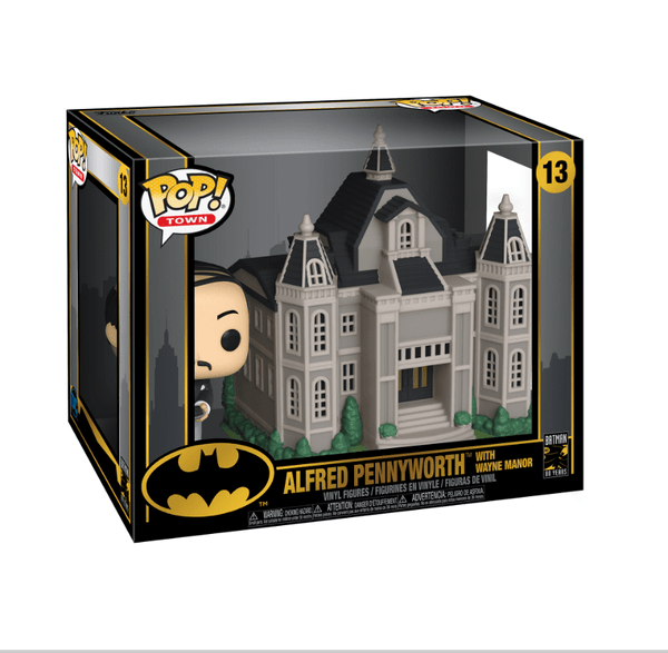 Funko Pop! Town - Batman 80 Years #13 - Alfred Pennyworth with Wayne Manor - Simply Toys