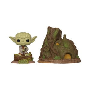 Funko Pop! Town - Star Wars: The Empire Strikes Back 40th Anniversary #11 - Dagobah Yoda with Hut - Simply Toys