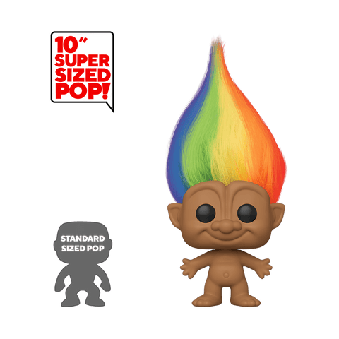Funko Pop! Trolls - Good Luck Trolls #09 - Rainbow Troll (10 inch) - Simply Toys