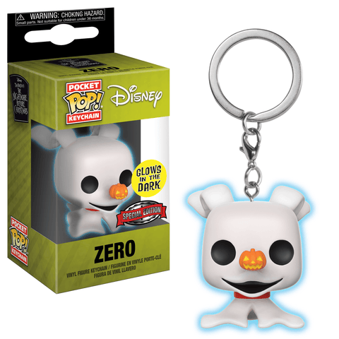 Funko Pop! Keychain - The Nightmare Before Christmas - Zero (Glow in the Dark) (Exclusive) - Simply Toys