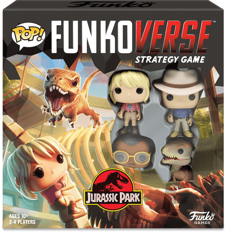 Funko Pop! - Funkoverse Strategy Game - Jurassic Park (4 Pack)