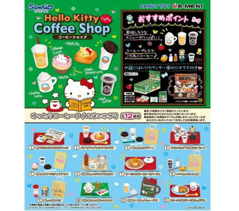 Re-Ment Sanrio - Hello Kitty Kodawari Coffee Shop (Set of 12) - Simply Toys