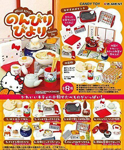 Re-Ment Sanrio - Hello Kitty Relaxation Day/Japanese Life (Set of 8) - Simply Toys