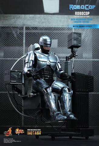 Hot Toys Movie Masterpiece Series Robocop 1/6th Scale Collectible Figure - Robocop (with Chair) - Simply Toys