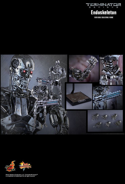 Hot Toys Movie Masterpiece Series: Terminator Genisys 1/6th Scale Collectible Figure - Endoskeleton - Simply Toys
