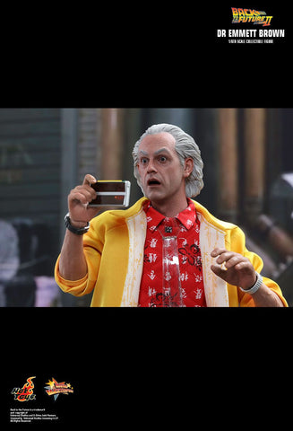 Hot Toys Movie Masterpiece Series Back To The Future 2 1/6th Scale Collectible Figure - Dr Emmett Brown - Simply Toys