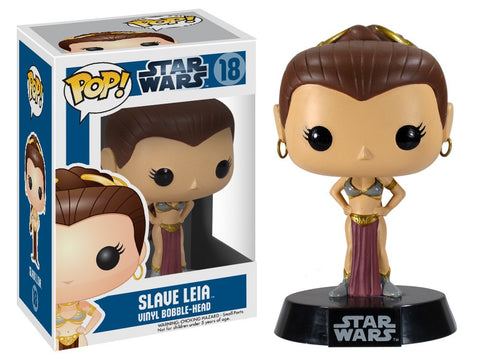 Funko Pop! Movies - Star Wars #18 - Slave Leia *VAULTED* - Simply Toys