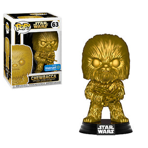 Funko Pop! Movies - Star Wars #63 - Chewbacca (Gold Metallic) (Exclusive) - Simply Toys