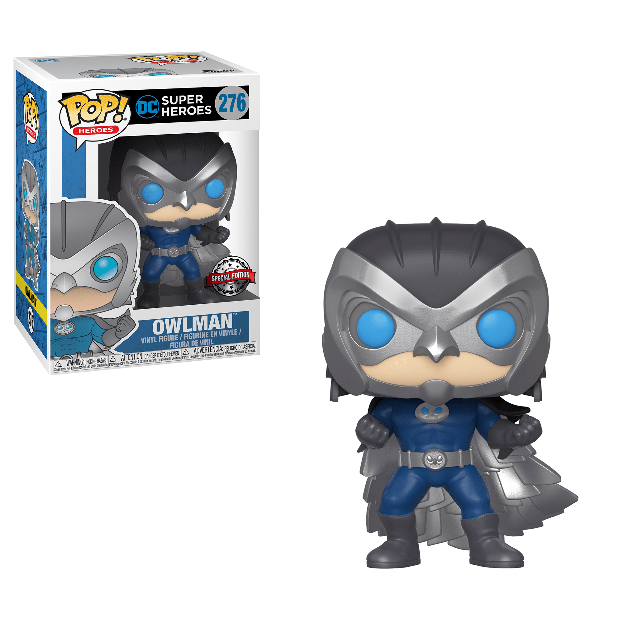Funko Pop! Heroes - DC Super Heroes #276 - Owlman (Exclusive) - Simply Toys