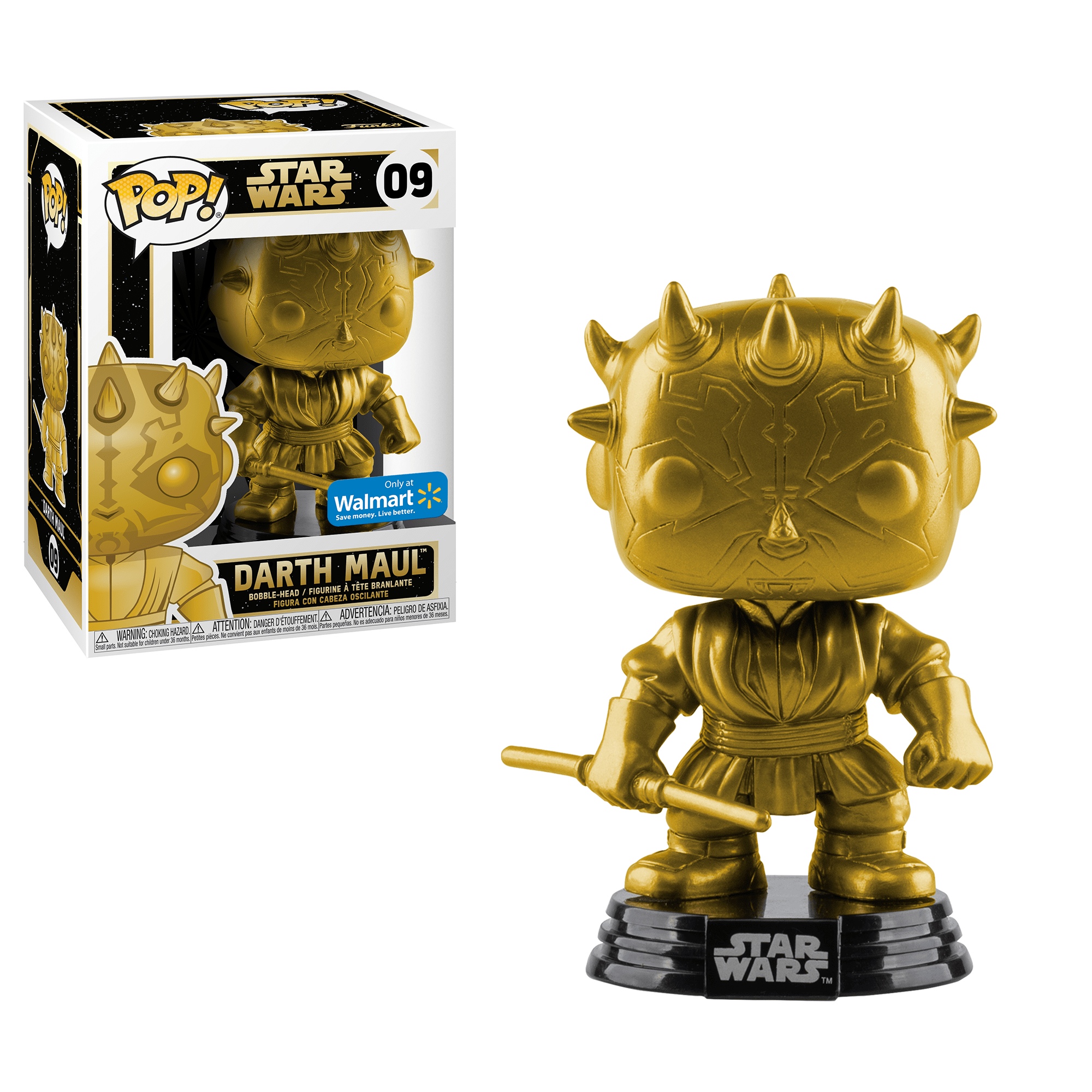 Funko Pop! Movies - Star Wars #09 - Darth Maul (Gold Metallic) (Exclusive) - Simply Toys