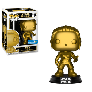 Funko Pop! Movies - Star Wars #114 - Rey (Gold Metallic) (Exclusive) - Simply Toys