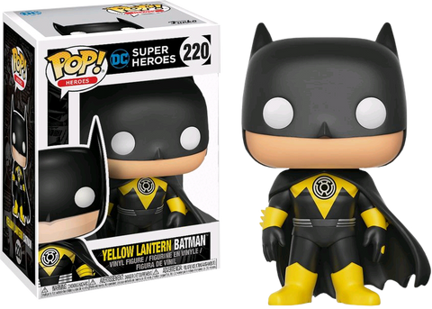 Funko Pop! Heroes - DC Super Heroes #220 - Yellow Lantern Batman - Simply Toys