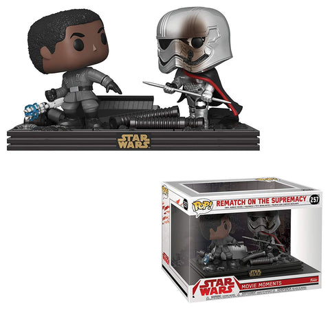 Funko Pop! Movie Moments - Star Wars: Episode VIII - The Last Jedi #257 - Rematch on the Supremacy (Finn & Captain Phasma) - Simply Toys